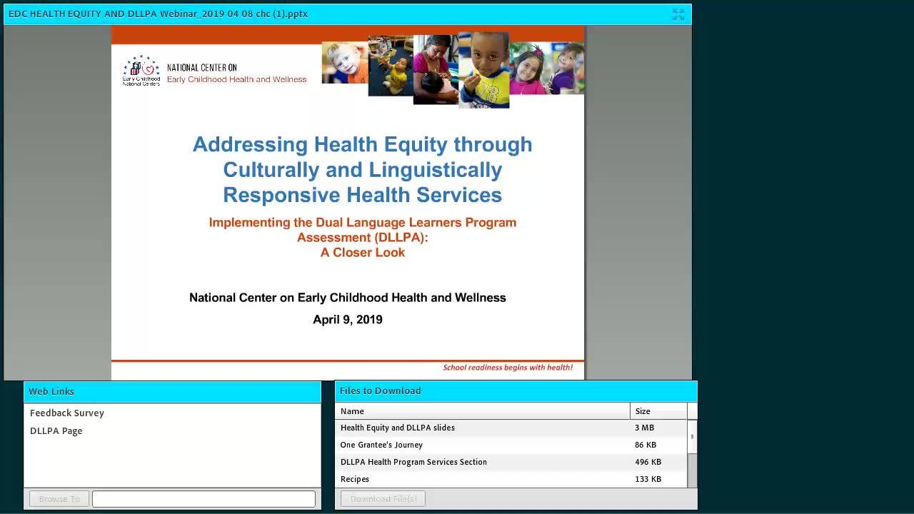 Abordar la equidad en salud a través de la Evaluación del programa para niños que aprenden en dos idiomas