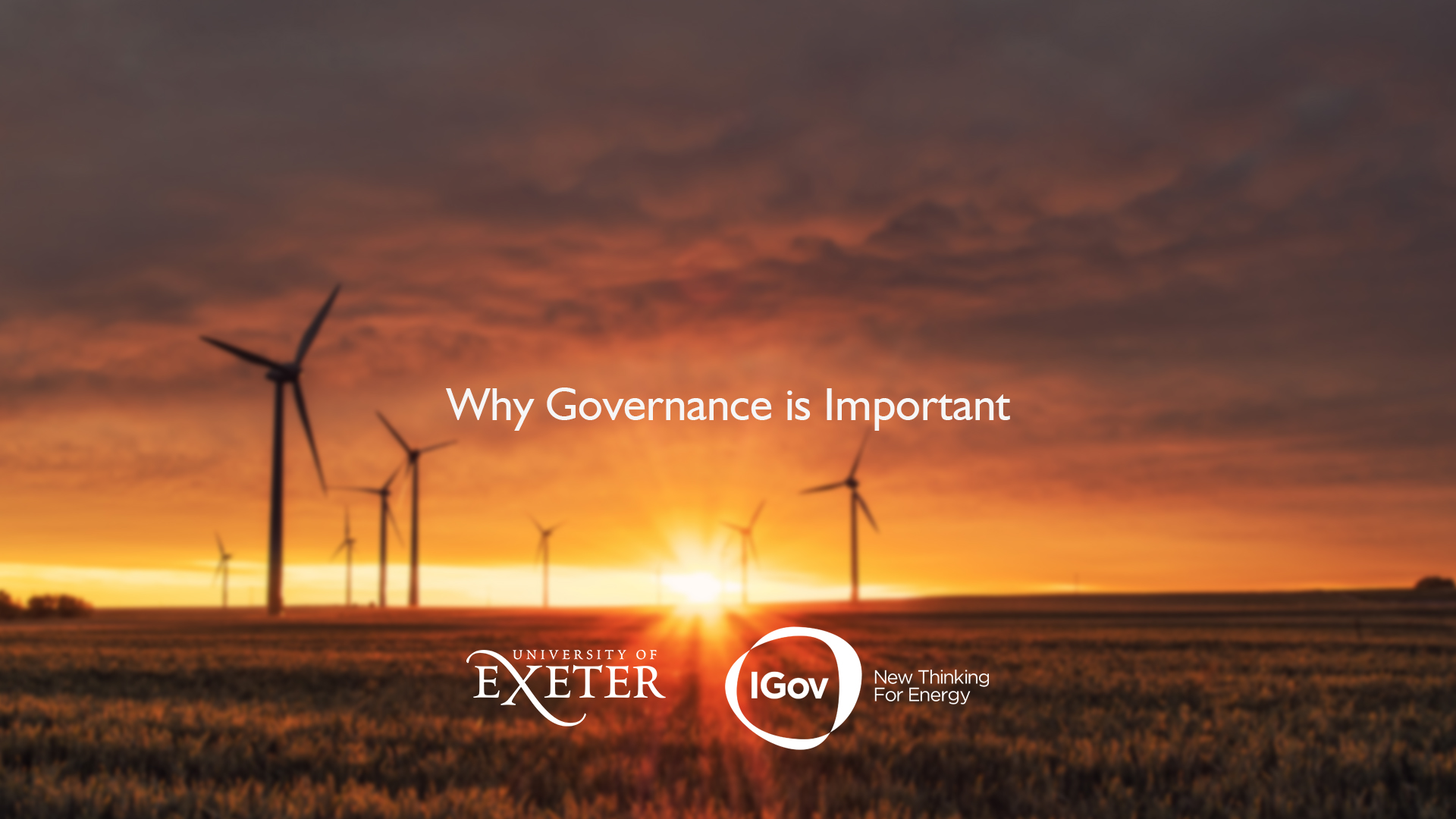 Introducing energy system transformation and why governance matters