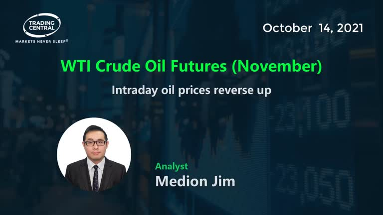 WTI Crude Oil Futures (November): Intraday oil prices reverse up
