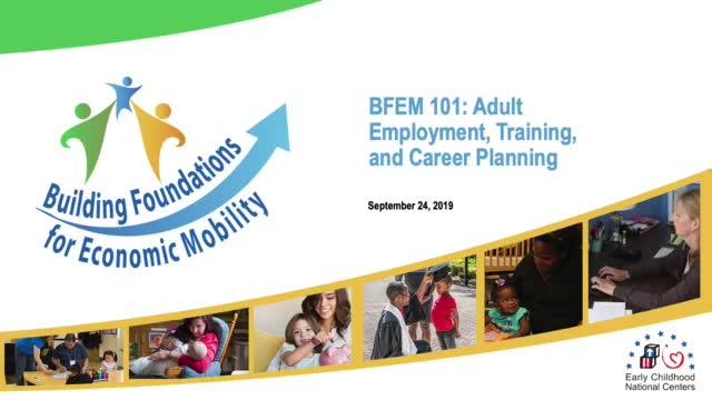 BFEM 101: Empleo, capacitación y planificación profesional para los adultos