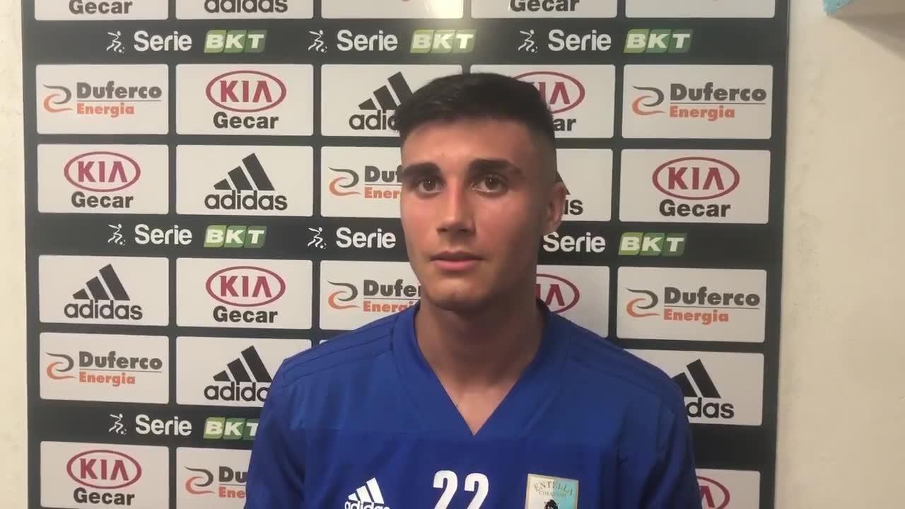Simone Andreis, le parole dopo l'esordio in Serie B