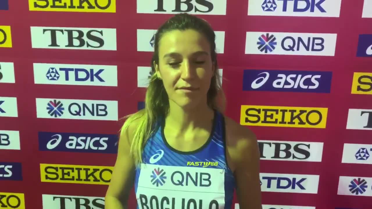Luminosa Bogliolo vince la batteria: è in semifinale mondiale