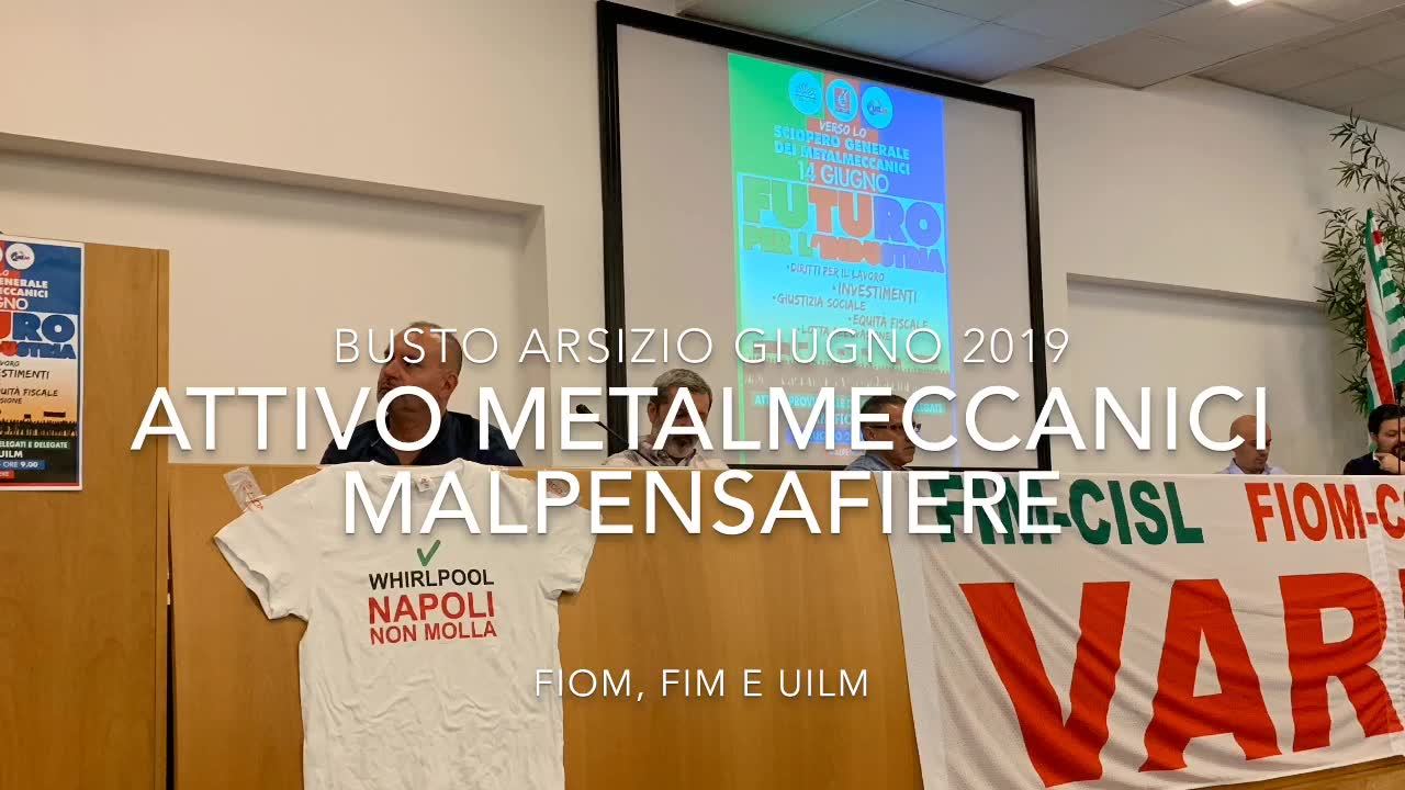Video: Metalmeccanici in tuta rosa