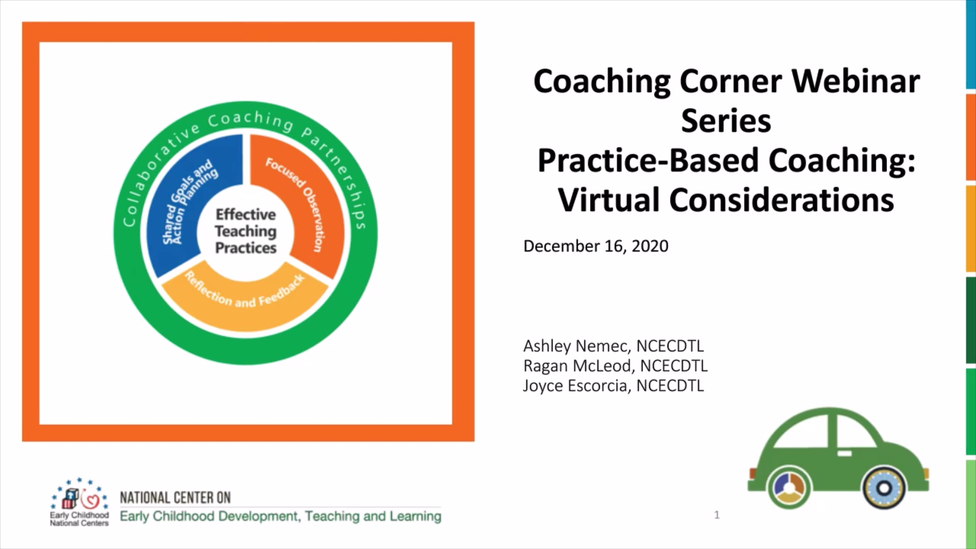 Practice-Based Coaching: Virtual Coaching Considerations