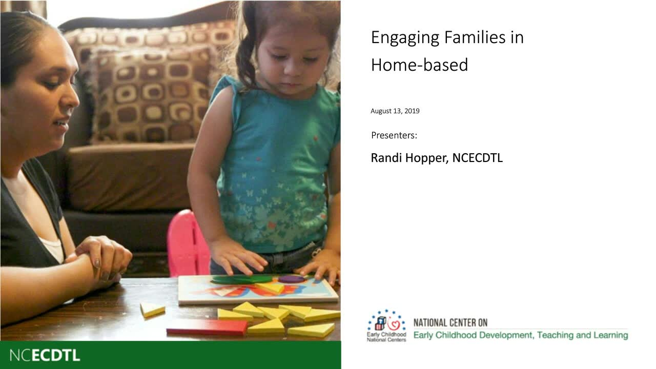Engaging Families in Home-Based Programs