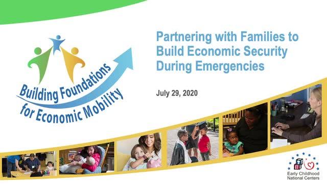 Cómo asociarse con las familias para fomentar la seguridad económica durante una emergencia