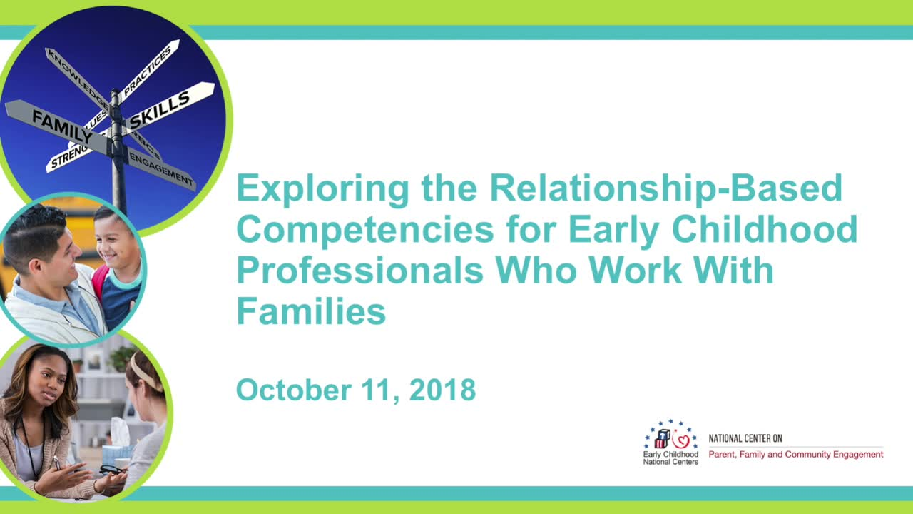 Exploring the Relationship-Based Competencies for Early Childhood Professionals Who Work with Families