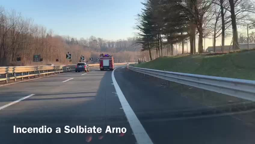 Video: Incendio lavanderia a Solbiate Arno