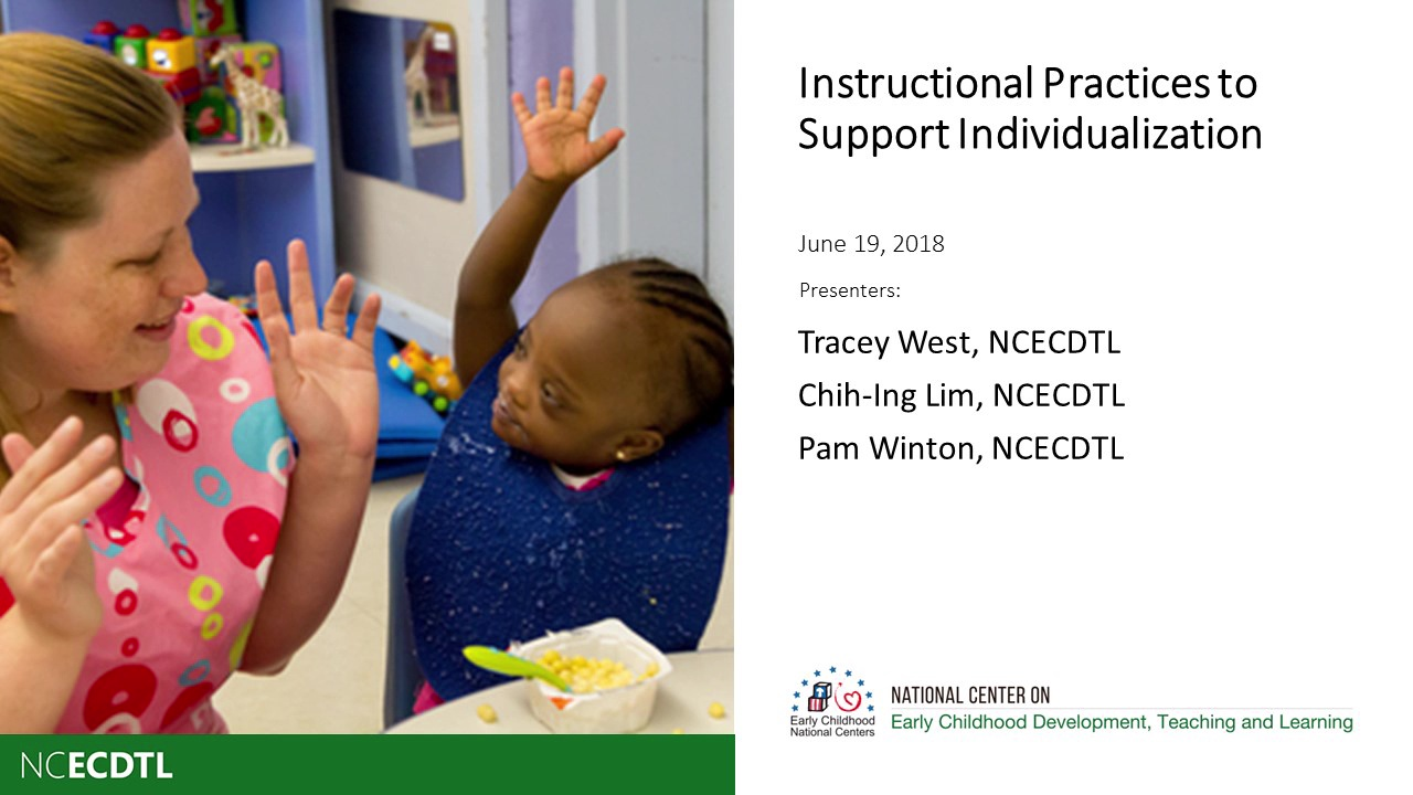 Instructional Practices to Support Individualization