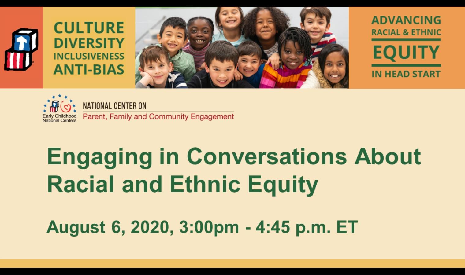Participación en conversaciones sobre la equidad racial y étnica