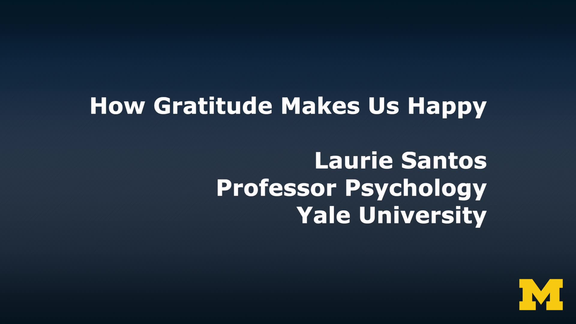 Why Gratitude Makes Us Happy
