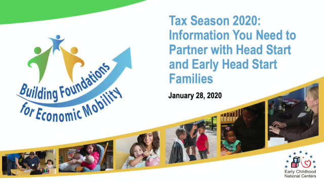 Tax Season 2020: Information You Need to Partner with Head Start and Early Head Start Families
