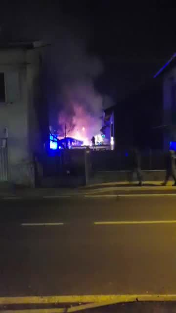 Video: Incendio a Gurone