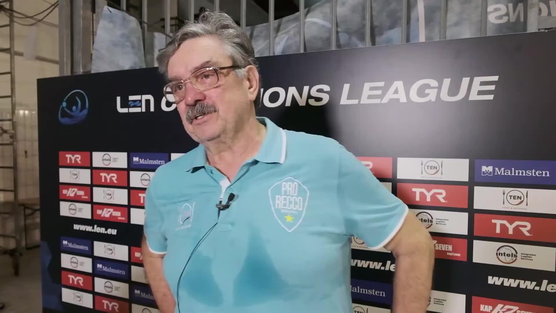 Pro Recco sconfitta dall'Osc Budapest: il commento di Ratko Rudic