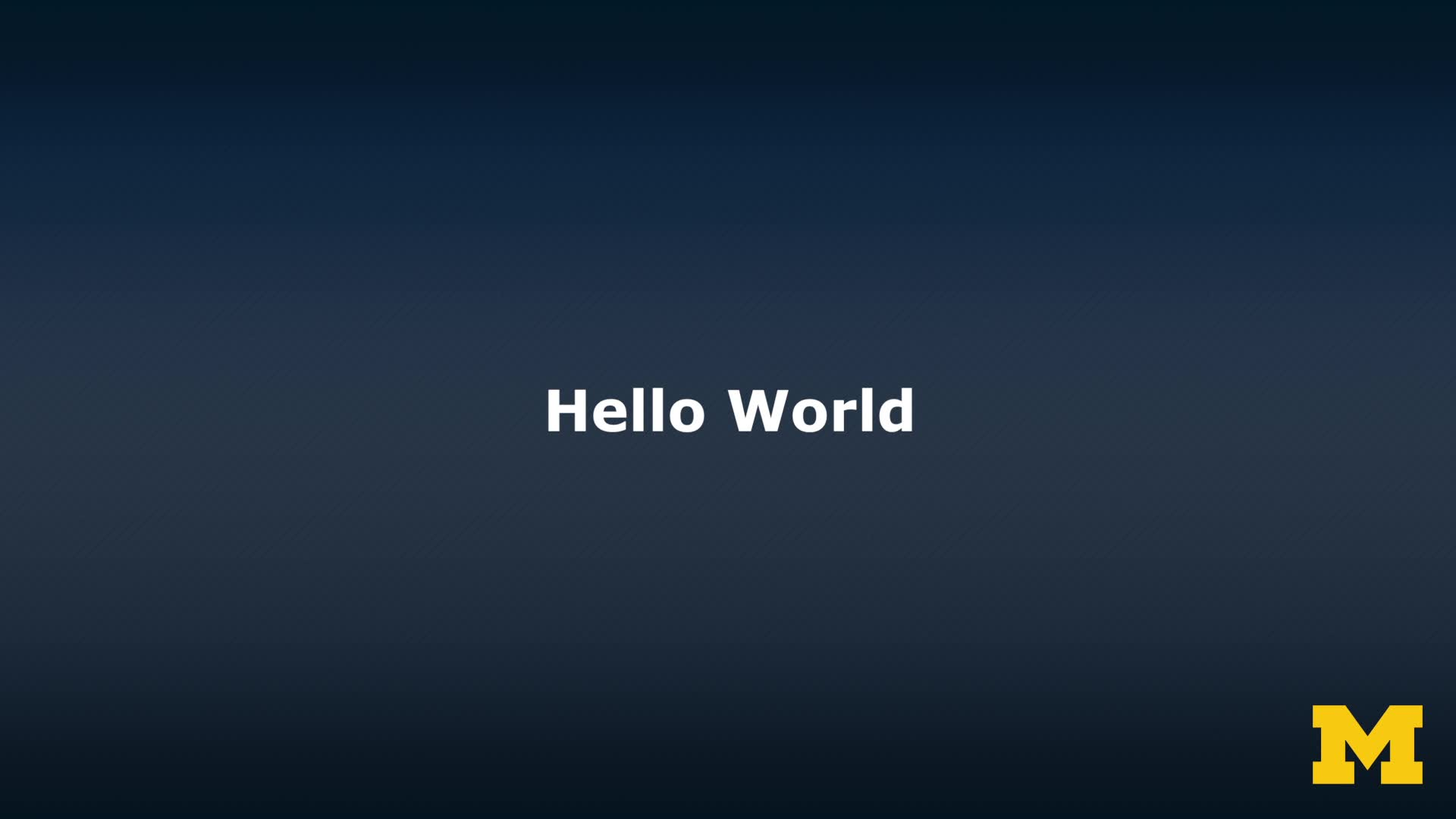 "Demonstration: Doing the ""Hello World"" Assignment"
