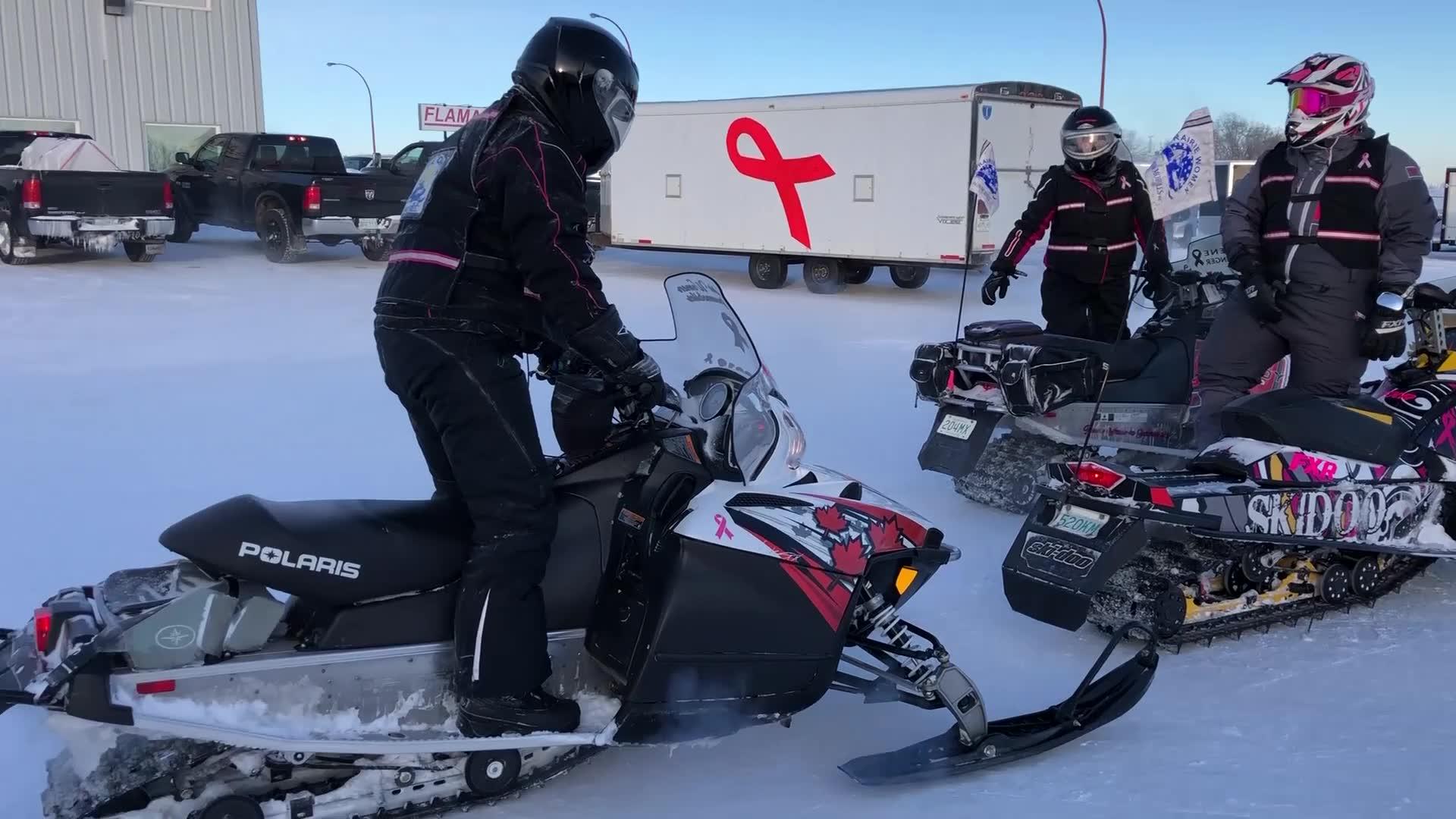 Paow News: Prairie Women On Snowmobiles Arrive In Prince Albert