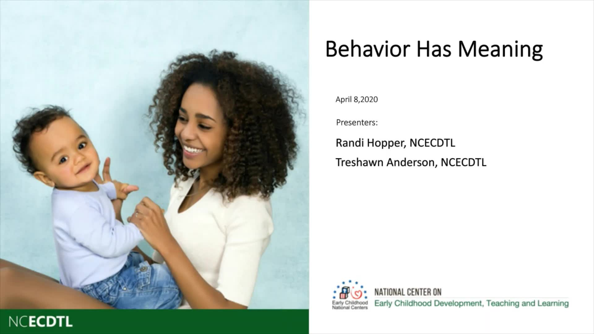 Behavior and Its Meaning