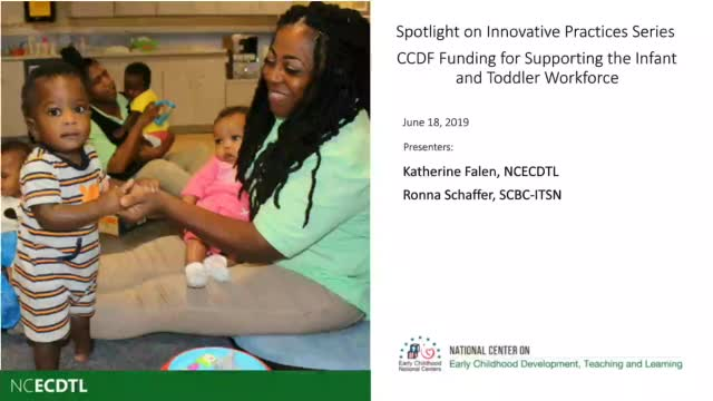 CCDF Funding for Supporting the Infant and Toddler Workforce