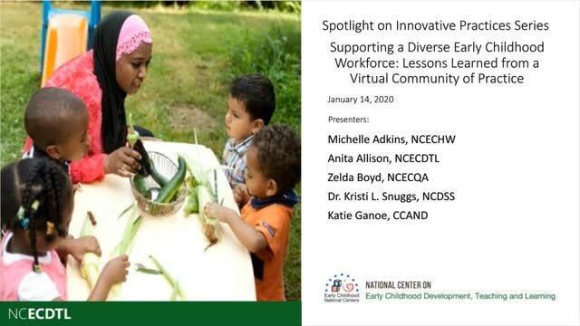 Apoyar a una fuerza laboral diversa en la primera infancia: lecciones aprendidas de una comunidad de práctica