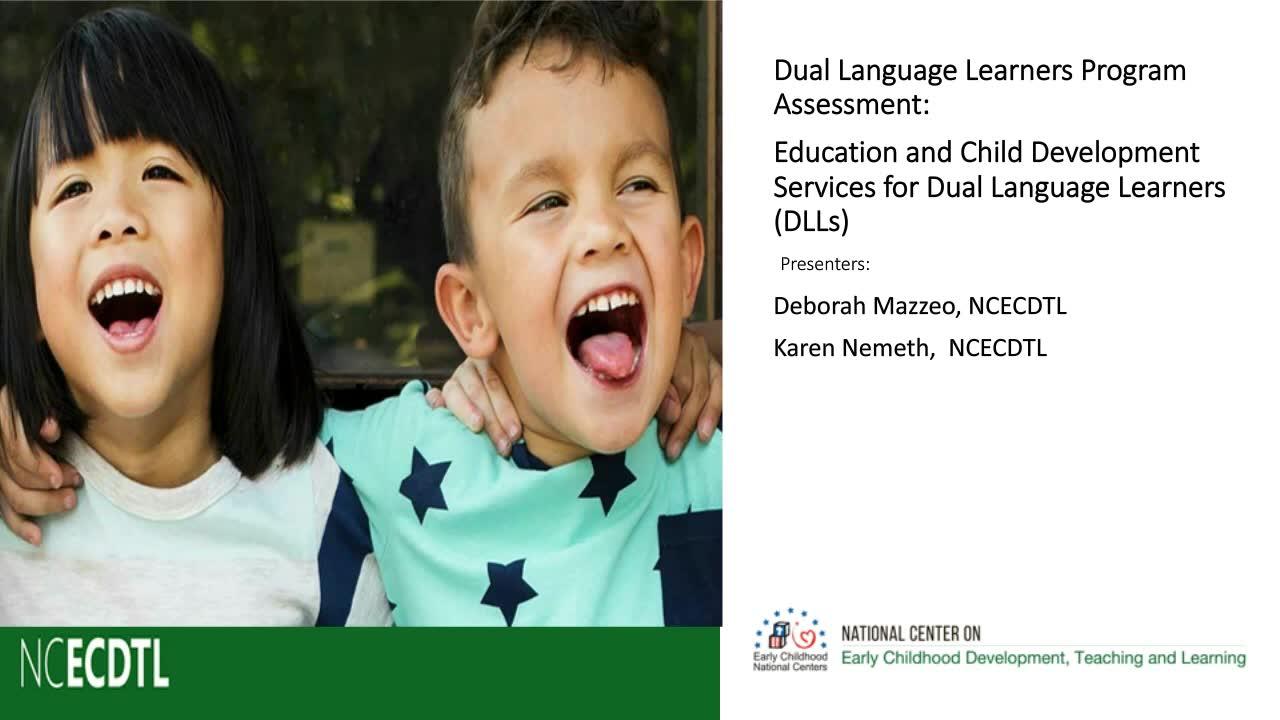 Servicios de educación y desarrollo infantil para niños que aprenden en dos idiomas