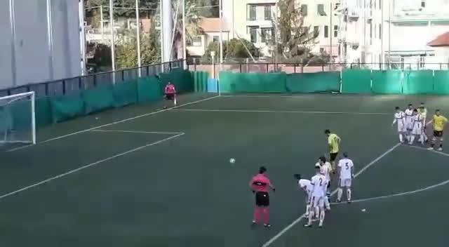 Eccellenza, il rigore dell'1-2 per l'Alassio contro la Genova Calcio