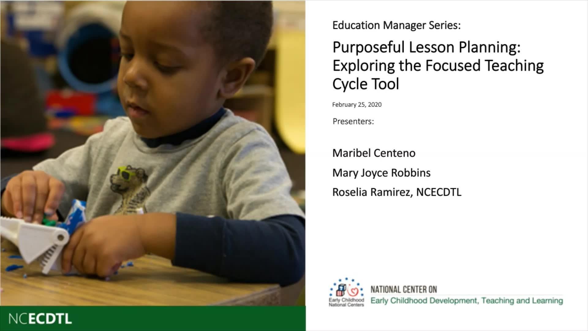 Planificación de lecciones con propósito: Exploración de la herramienta del Ciclo de enseñanza enfocada