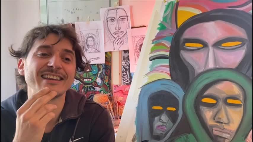 Arlan Giunta trasforma l'angoscia del lockdown in opere d'arte