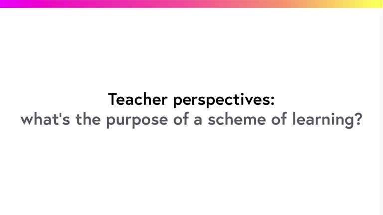 What's the purpose of a scheme of learning?
