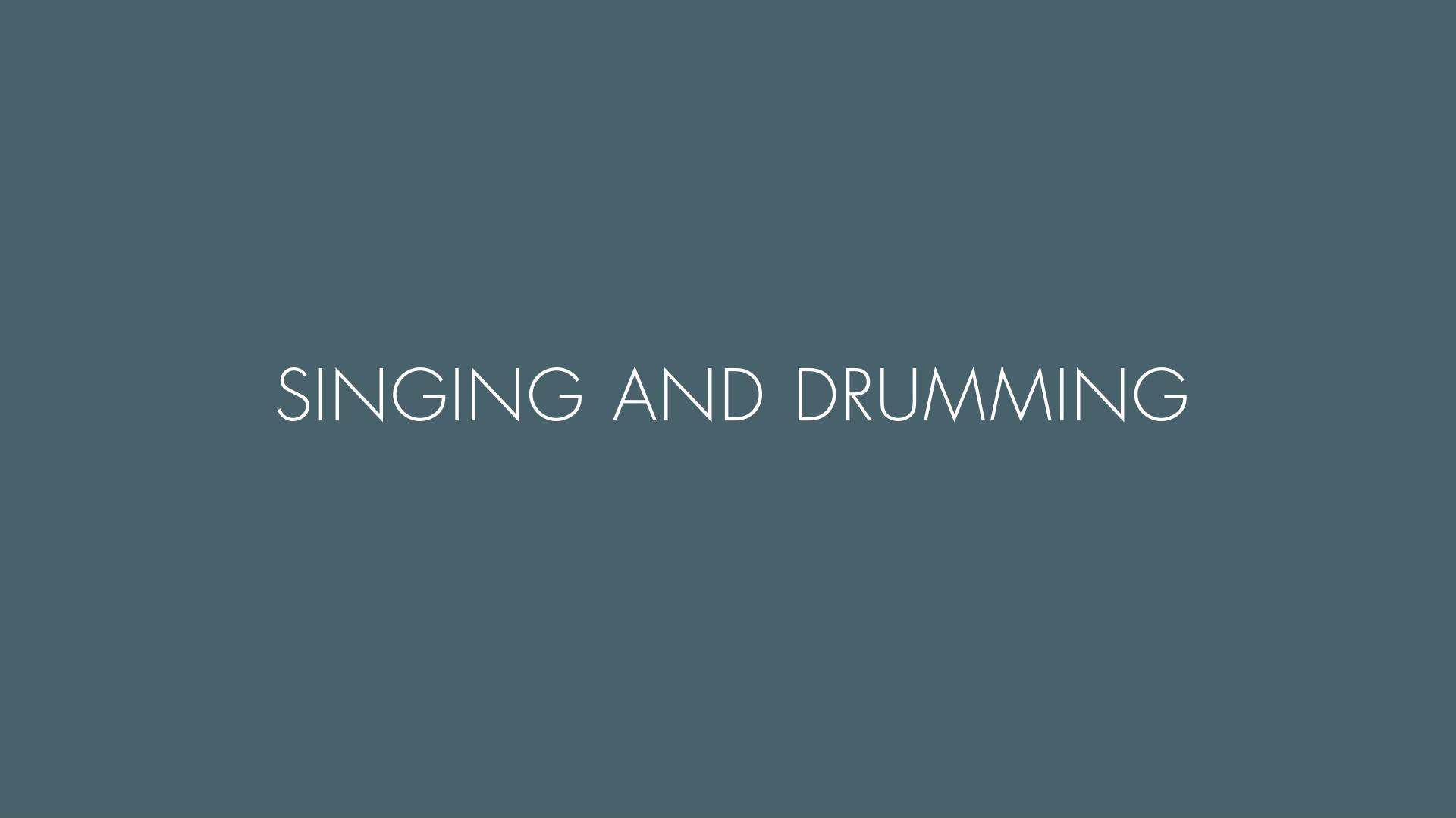 Canto y toque de tambores