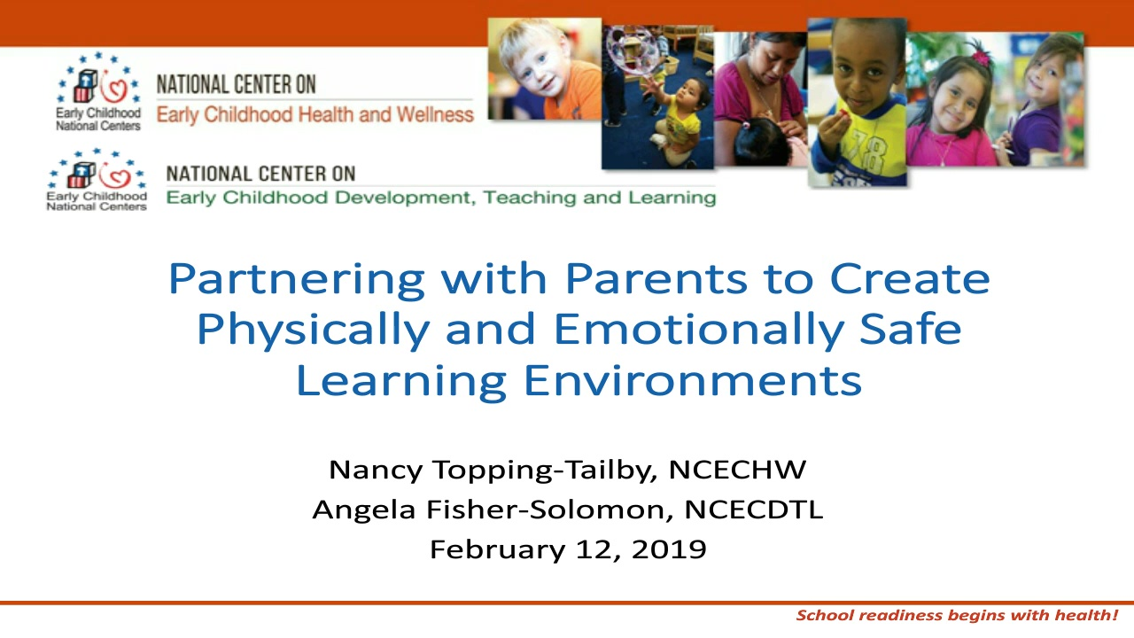Partnering with Parents to Create Physically and Emotionally Safe Learning Environments