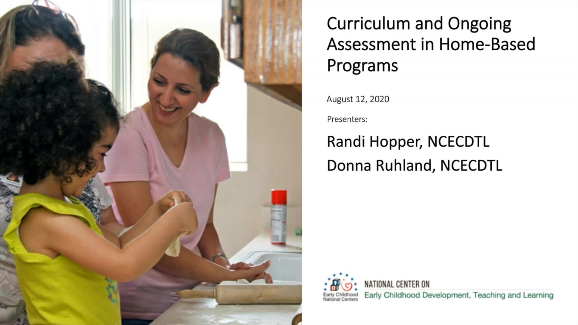 Curriculum and Ongoing Assessment in Home-Based Programs