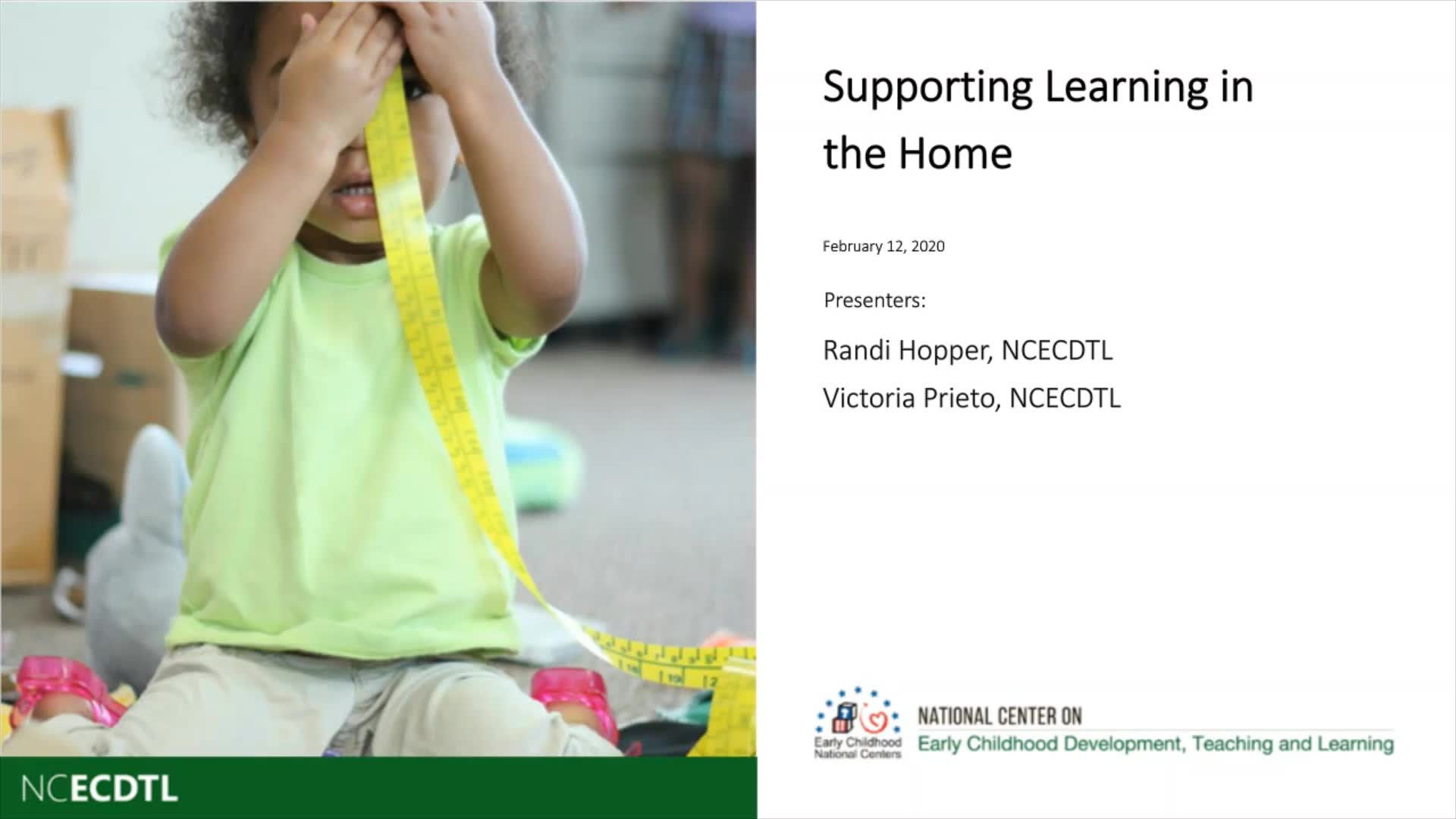 Supporting Learning in the Home