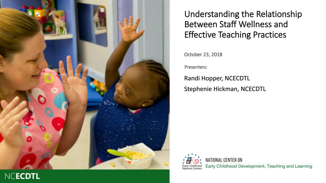 Understanding the Relationship Between Staff Wellness and Effective Teaching Practices