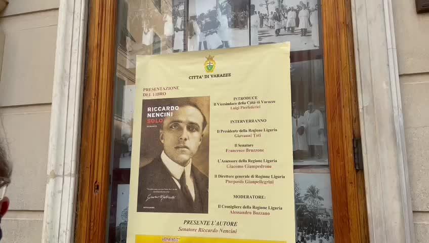 """""""Uomo tenace, coerente, ma soprattutto, solo"""": presentato a Varazze il romanzo del senatore Nencini su Matteotti"""