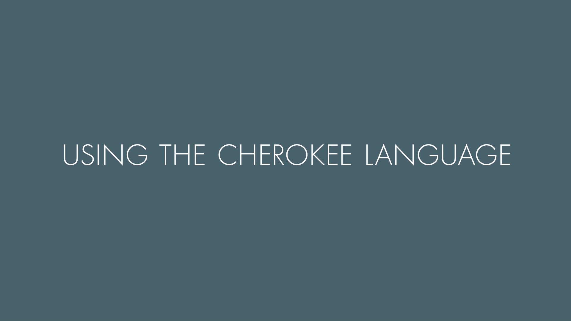 Uso de la lengua cheroqui