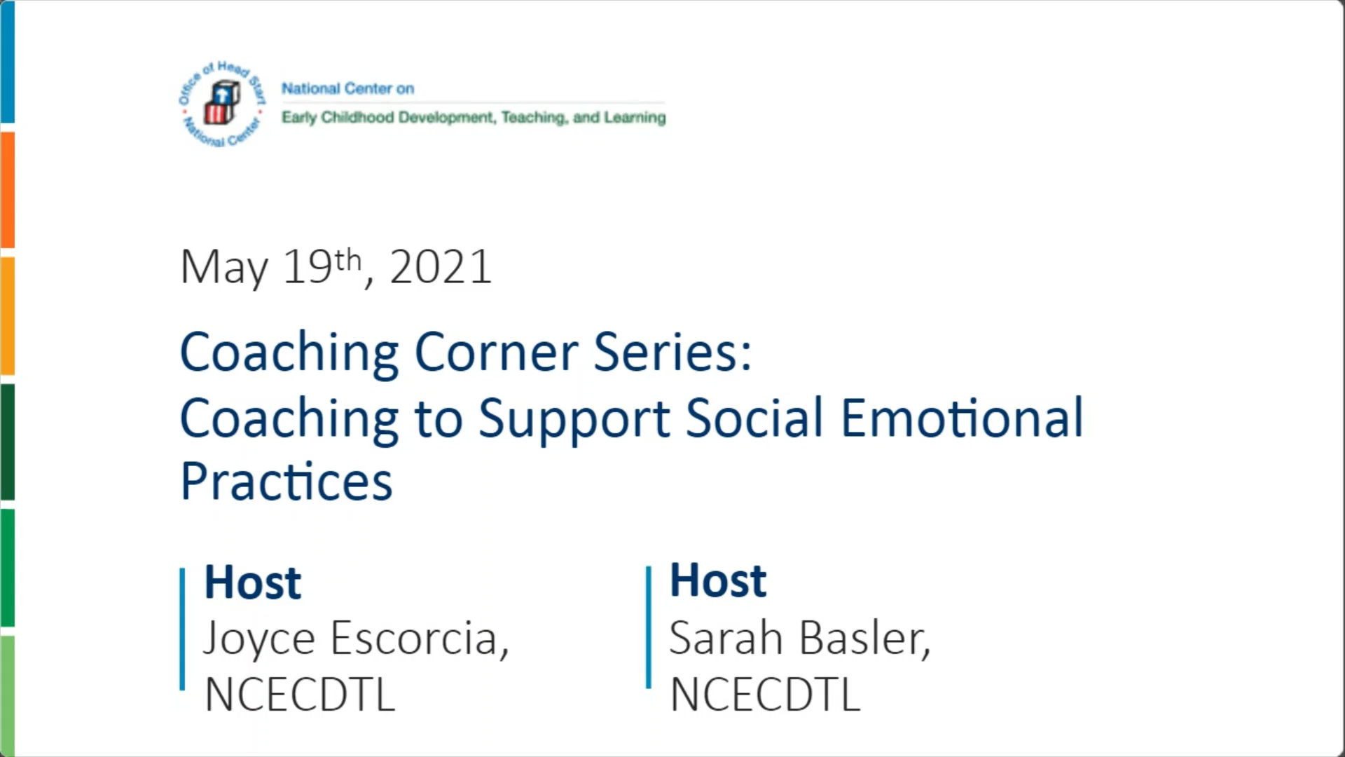 Coaching to Support Social and Emotional Practices