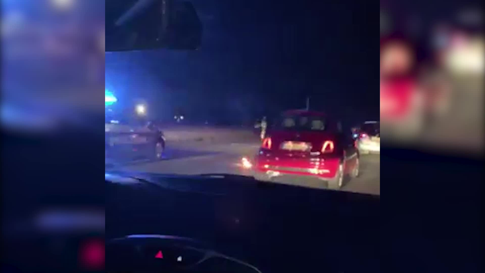 Video: Incidente e ribaltamento in A8