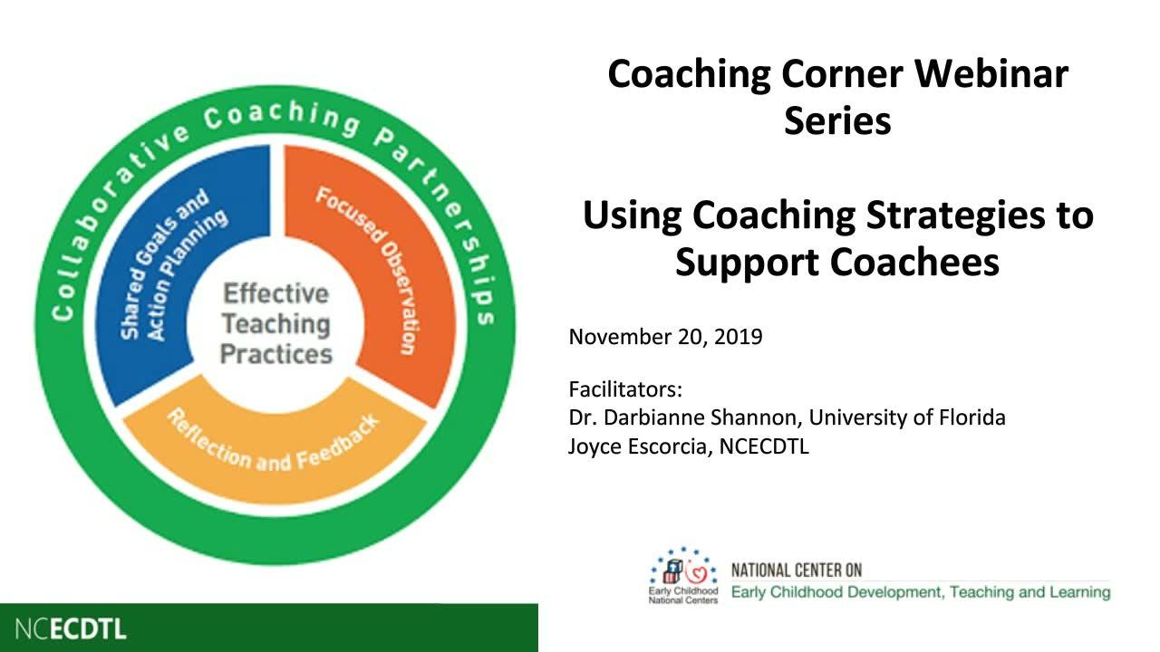 Uso de estrategias de coaching para apoyar al personal docente que recibe el asesoramiento