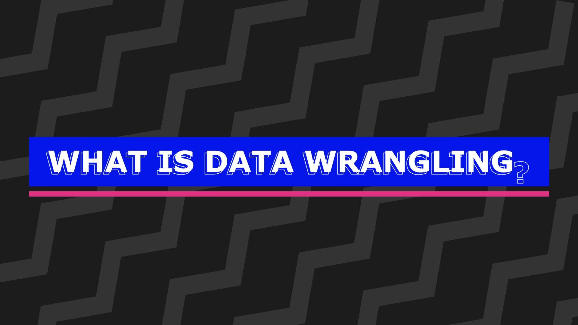 CRISP-DM and Data Wrangling