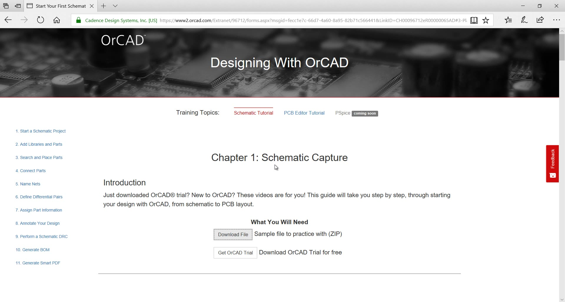 Start Your First Schematic Design In Orcad Capture Freeware Electrical Block Diagram Software Page 1 0 Using This Tutorial