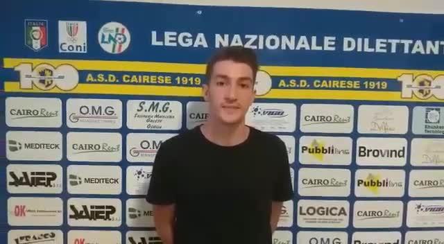 Intervista a Luca Martinetti, nuovo difensore della Cairese