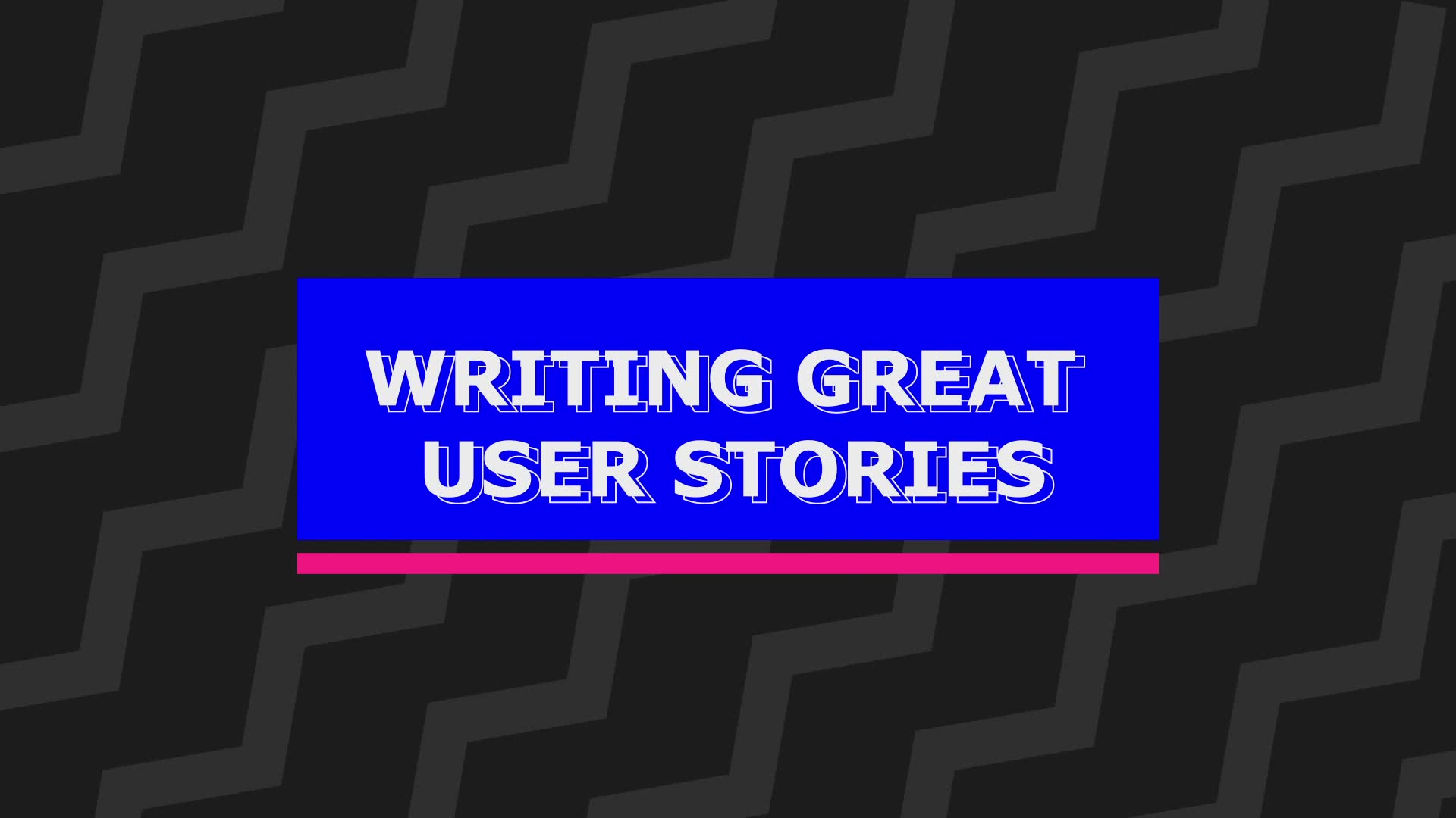 Intro to user stories