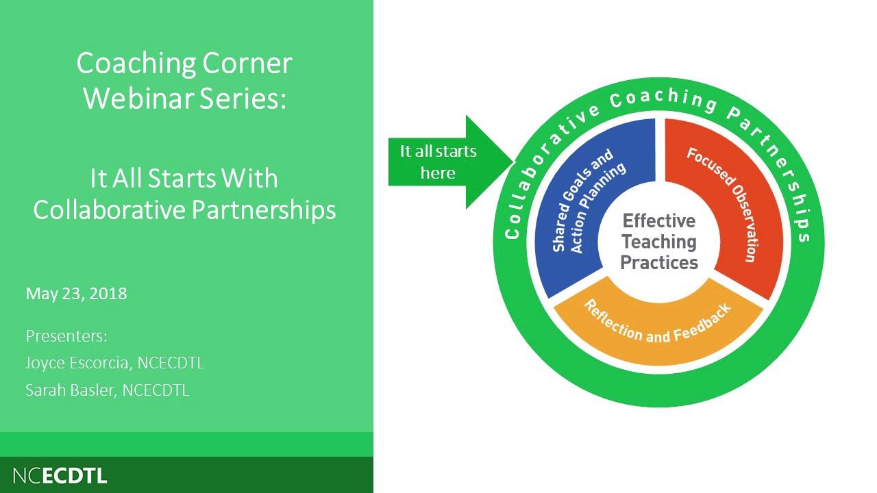 El coaching comienza con asociaciones colaborativas