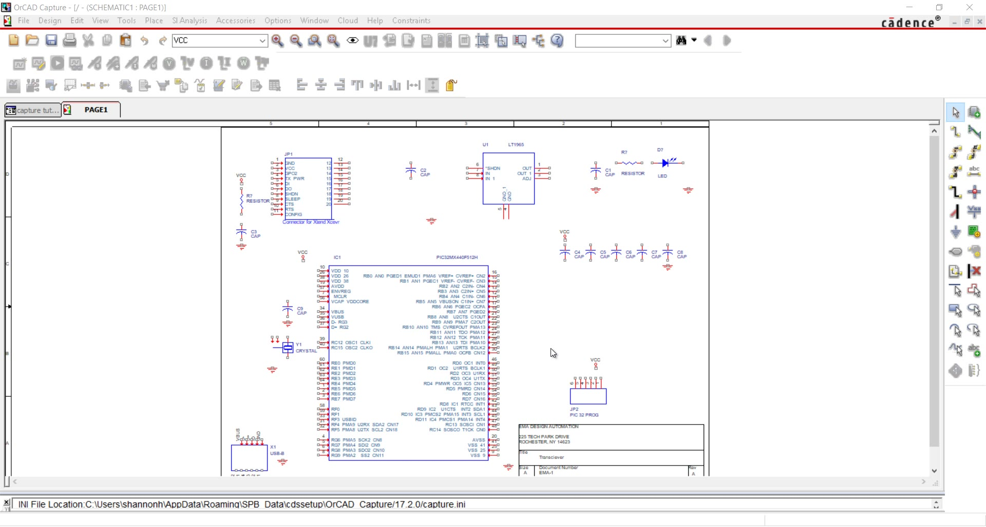 Start Your First Schematic Design In Orcad Capture Free Wiring Program 4 Connect Parts