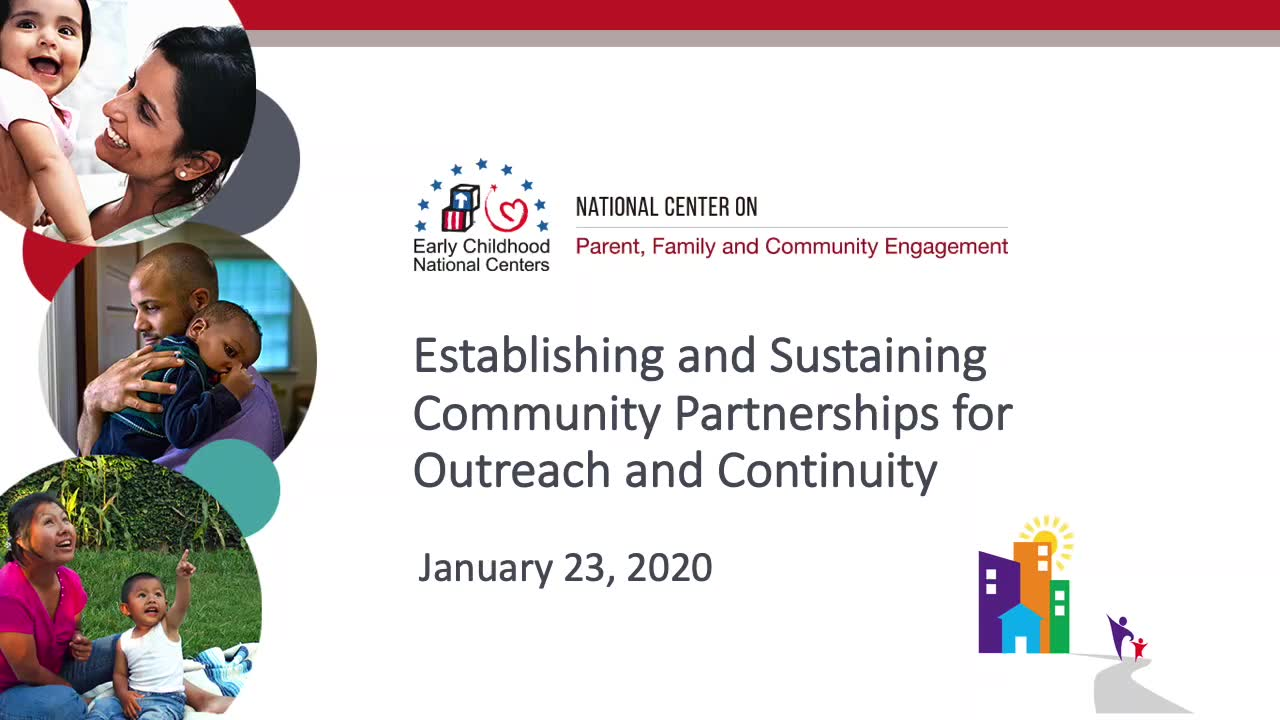 Establishing and Sustaining Community Partnerships for Outreach and Continuity