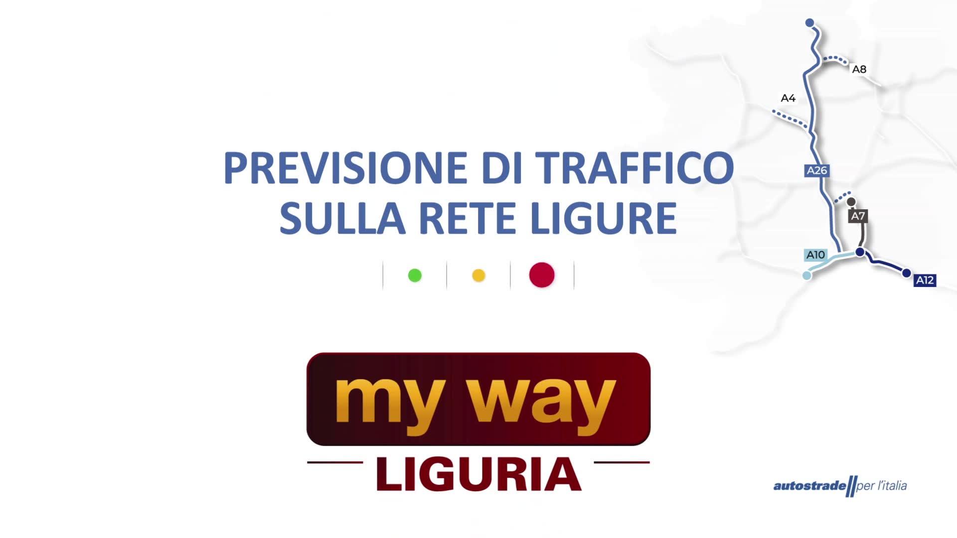 Le previsioni del traffico sulle autostrade in Liguria per giovedì 23 settembre