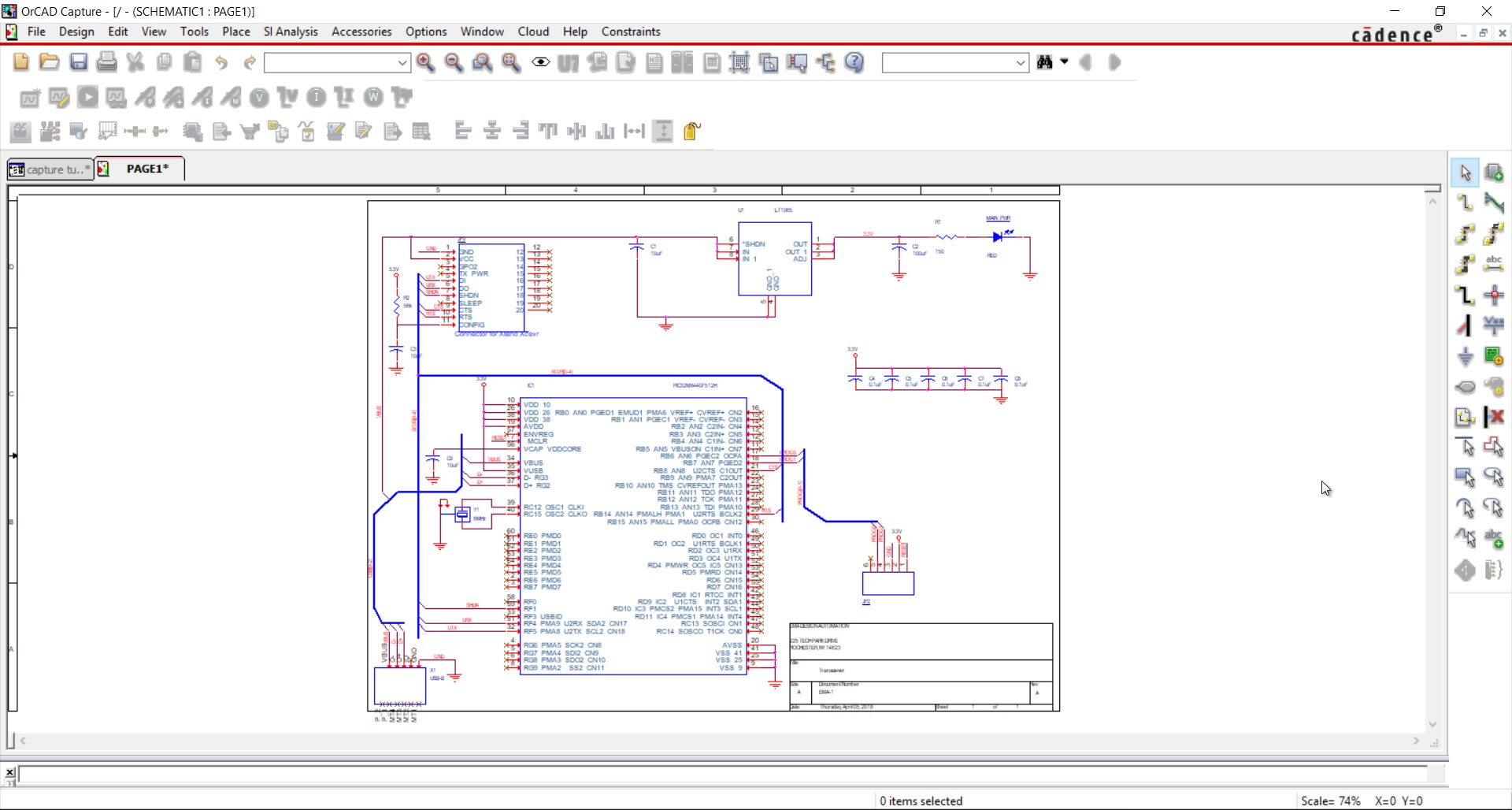 Start Your First Schematic Design in OrCAD Capture