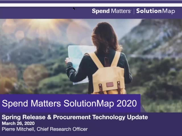 The Spend Matters SolutionMap - Spring 2020 Update slide image