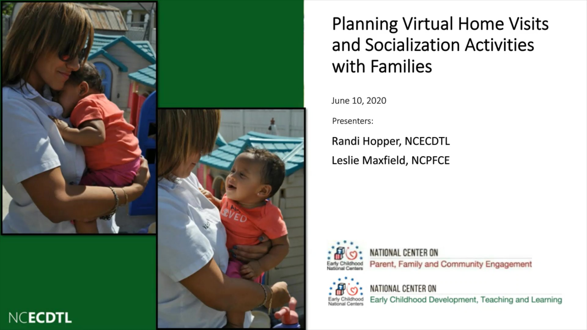 Planning Virtual Home Visits and Socialization Activities with Families