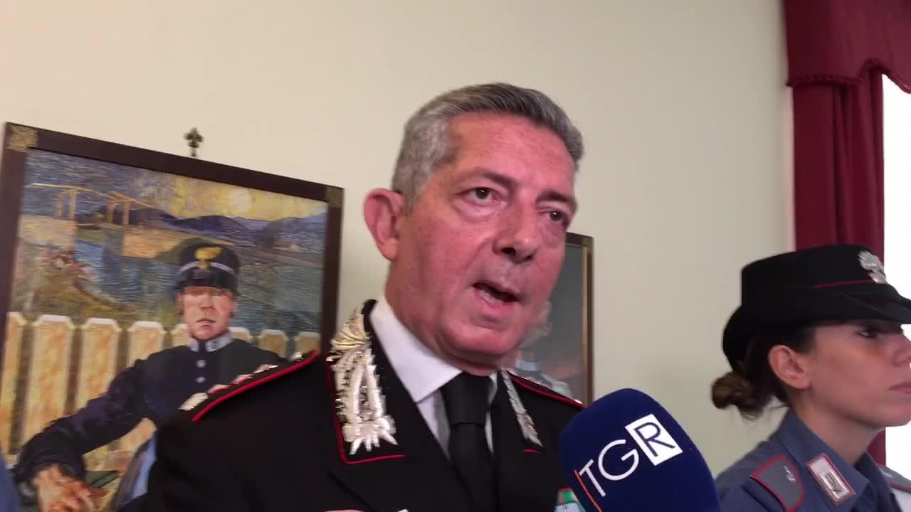 Il commiato del comandante provinciale dei carabinieri Riccardo Sciuto